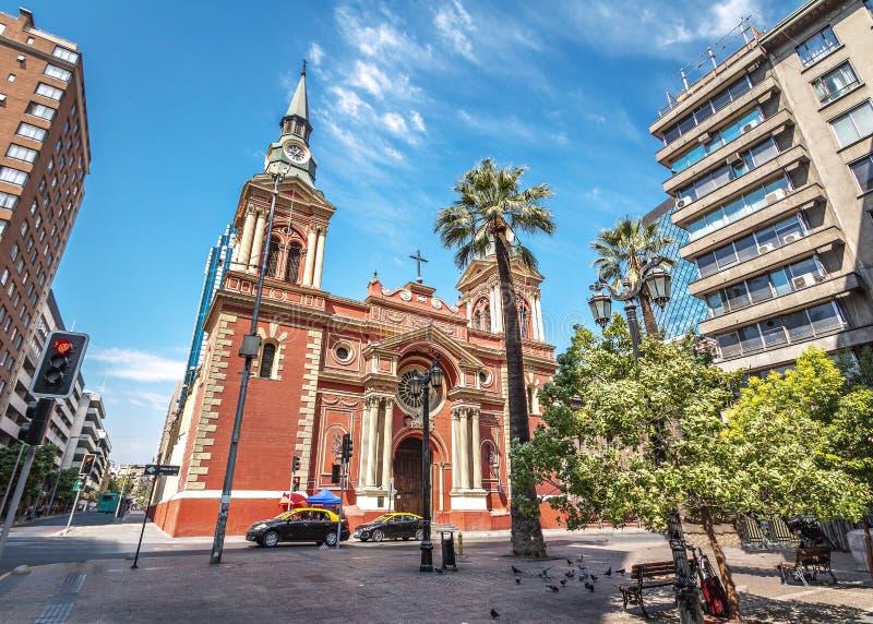 Церковь Merced Ла - Сантьяго, Чили стоковая фотография rf