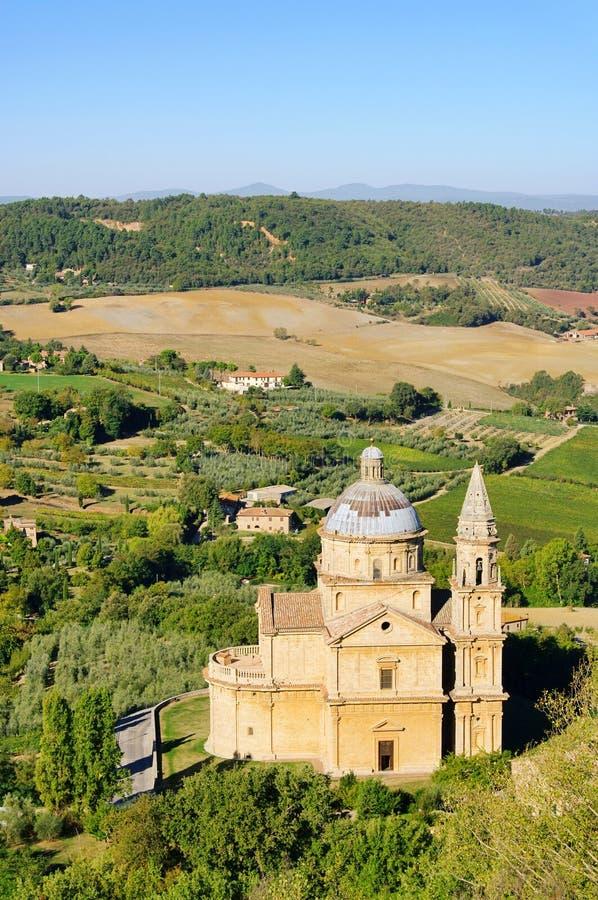 Церковь Montepulciano стоковое изображение rf