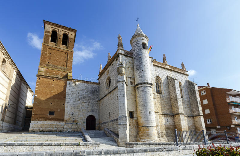 Церковь Mun Antolin в Tordesillas Испании стоковая фотография