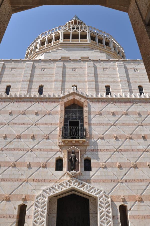 церковь nazareth аннунциации стоковые фото