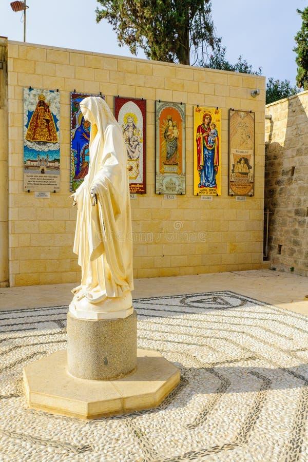 церковь nazareth аннунциации стоковые фотографии rf