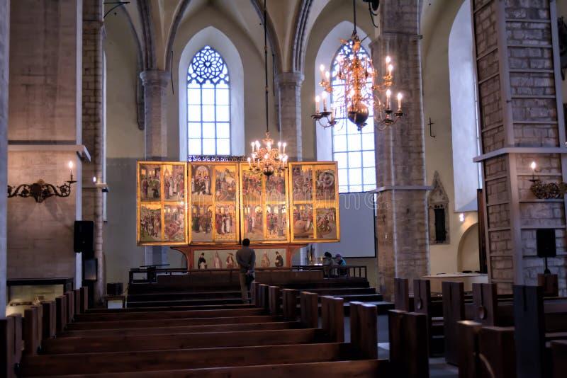 Церковь Niguliste, Таллин, Эстония стоковая фотография