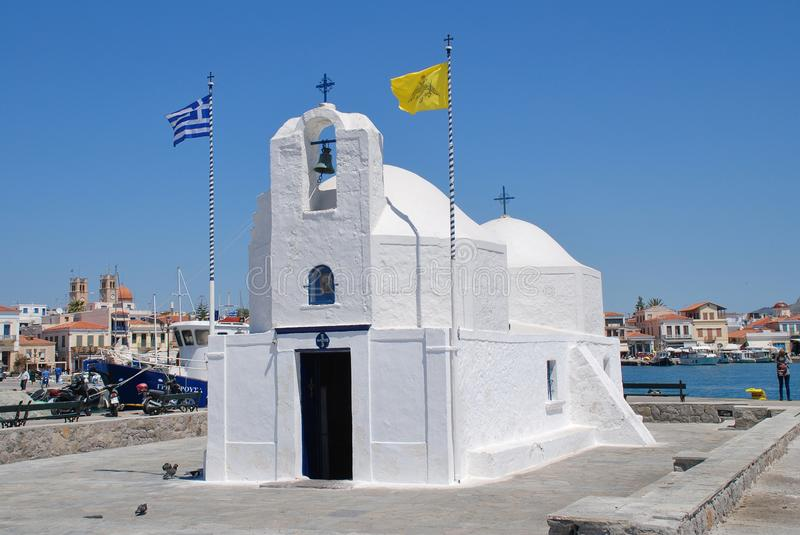 Церковь Nikolaos ажио, Aegina стоковое фото rf