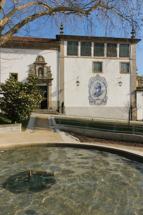 Церковь Nossa Senhora делает Carmo Guimaraes Португалия стоковая фотография