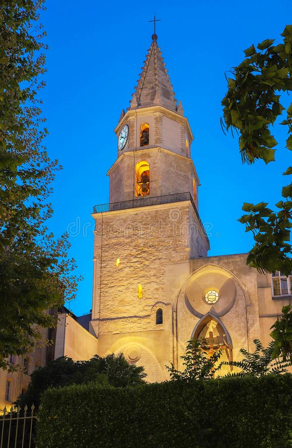 церковь Notre-Дам-des-Accoules в марселе Марсель, ` Azur Провансал-Alpes-Коута d, Франция стоковое фото rf