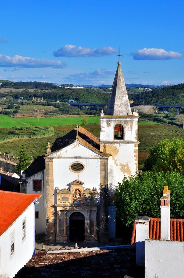 Церковь Obidos стоковые изображения rf