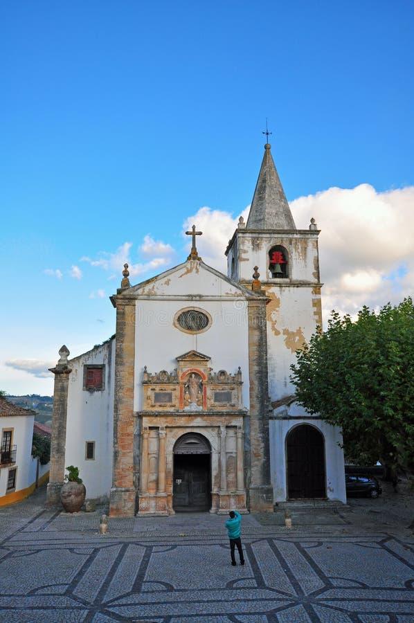 Церковь Obidos стоковая фотография