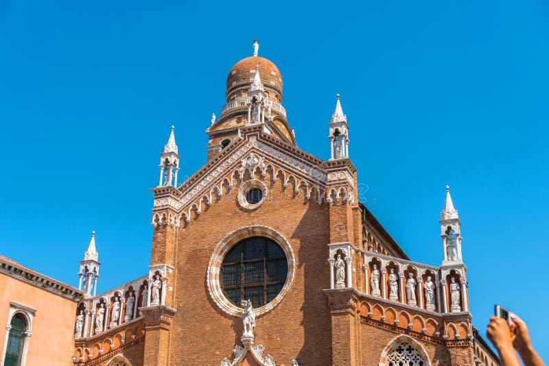 Церковь ` Orto Dell Madonna в Венеции, Италии стоковое фото