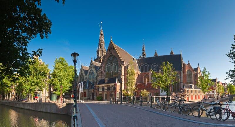 Церковь Oude Kerk, Амстердам стоковая фотография rf