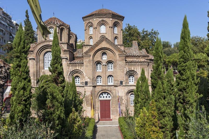 Церковь Panagia Chalkeon вСалоники, Греция стоковые изображения rf