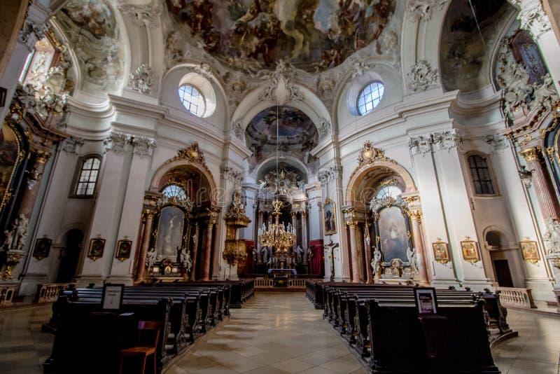 Церковь Piarist в вене, Австрии стоковая фотография rf