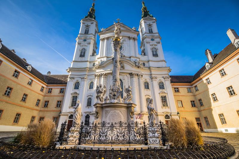 Церковь Piarist в вене, Австрии стоковое фото