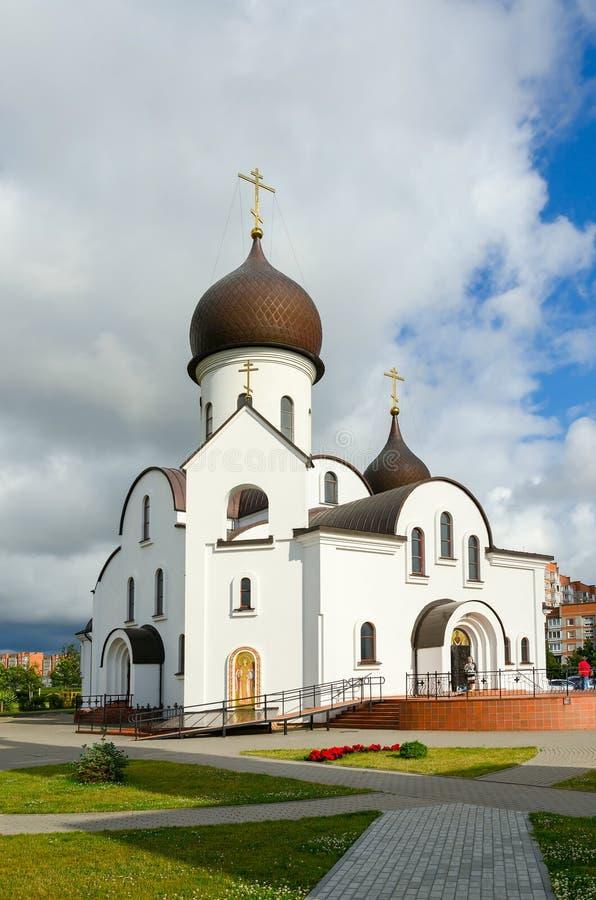 Церковь Pokrovo-Николаса, Klaipeda, Литва стоковые фото