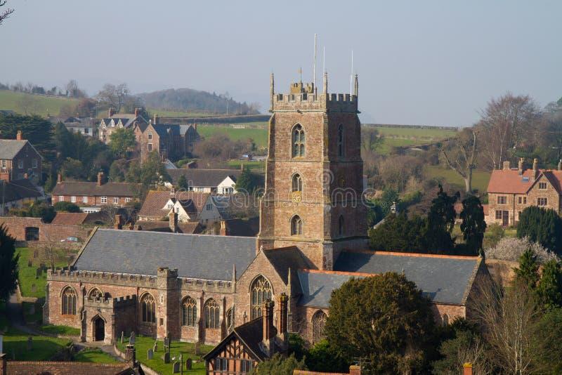 Церковь Сомерсет Англия Dunster стоковые изображения