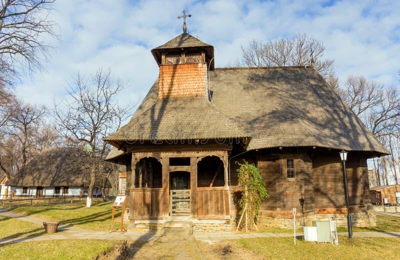 Церковь Rapciuni в музее деревни, Бухаресте, Румынии стоковые изображения rf