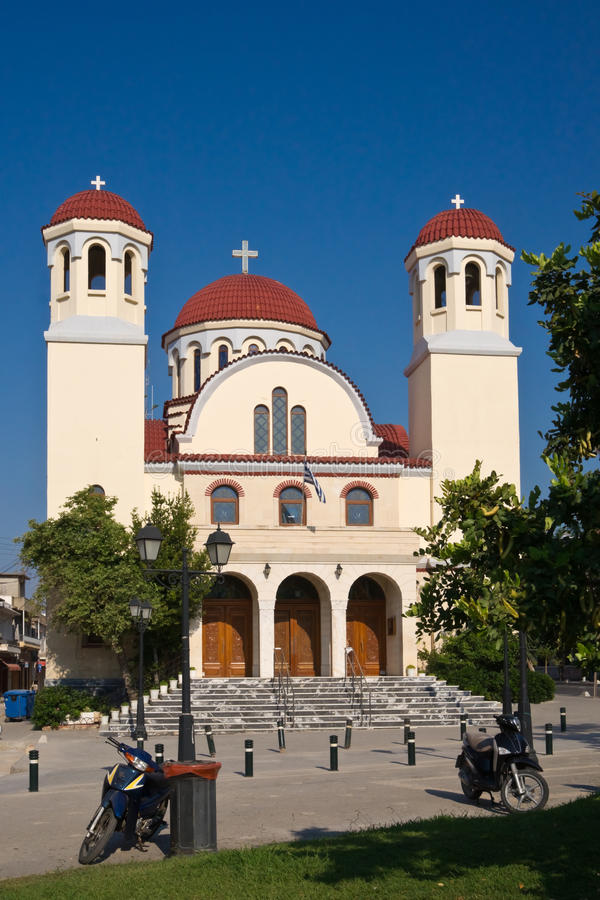 церковь rethymnon стоковая фотография rf
