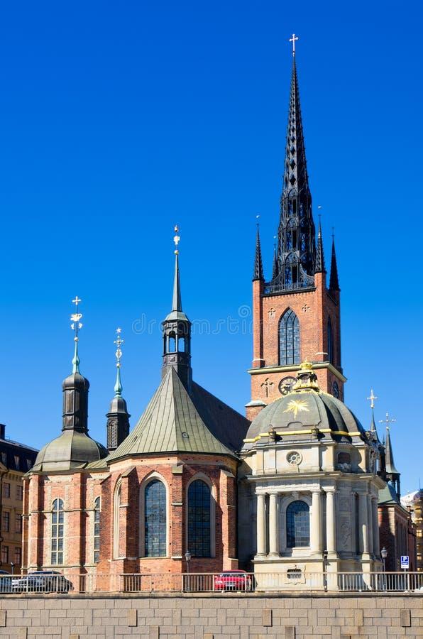 церковь riddarholmen stockholm Швеция стоковые изображения