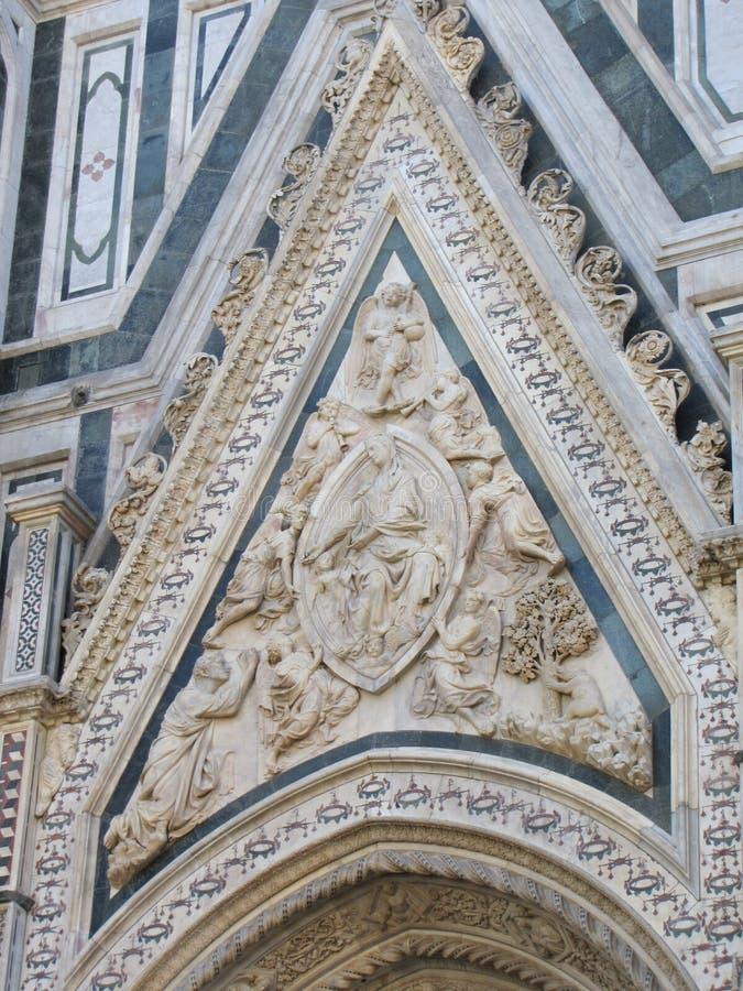 Церковь ` s Европы четвёртая по величине, в Флоренсе, Италия, Santa Maria del Fiore стоковое фото rf