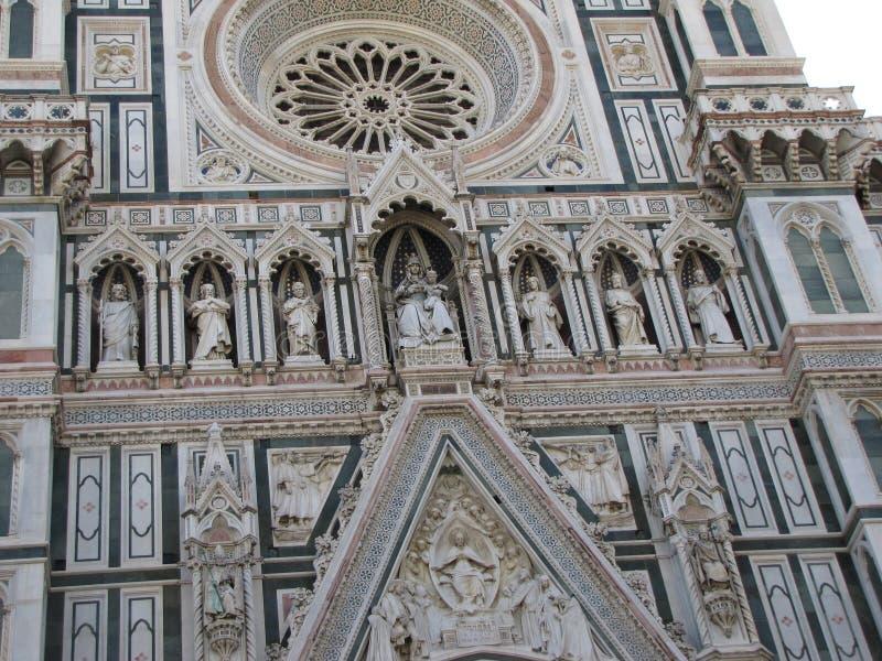Церковь ` s Европы четвёртая по величине, в Флоренсе, Италия, Santa Maria del Fiore стоковые фотографии rf