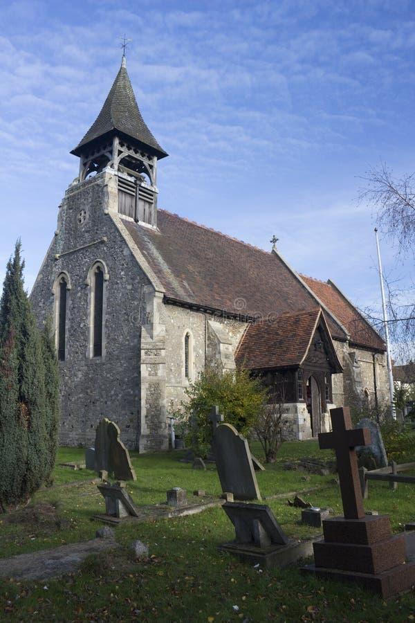 Церковь ` s Катрина Святого, Wickford, Essex, Англия стоковое фото rf