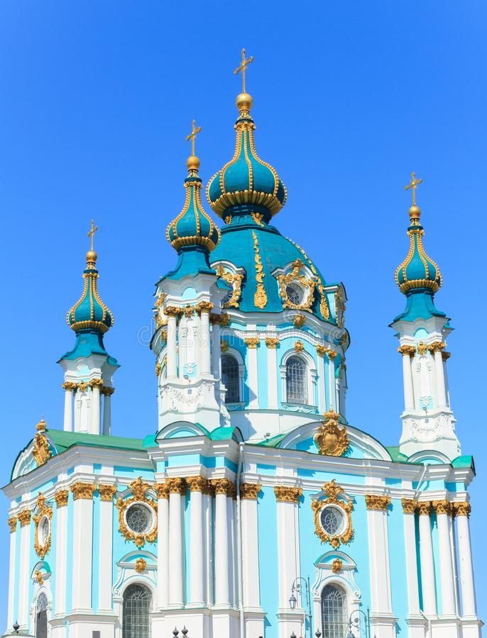 Церковь ` s St Andrew в Киеве стоковые фотографии rf