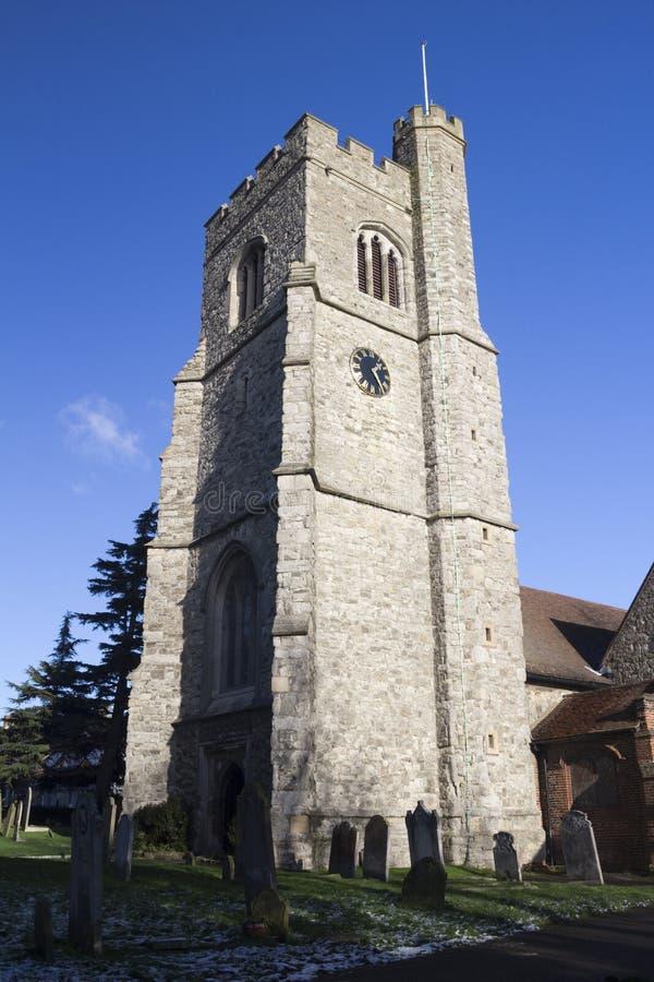 Церковь ` s St Clement, Leigh-на-море, Essex, Англия стоковая фотография
