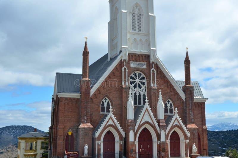 Церковь ` s St Mary в Virginia City стоковое изображение rf