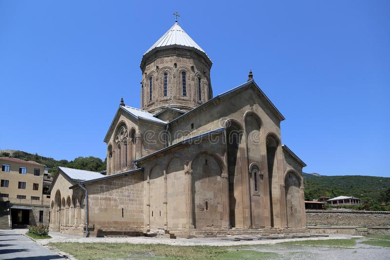 Церковь Samtavro-Preobrazhenskaya в nunnery St Нина стоковое фото