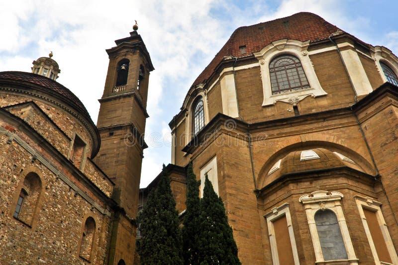 Церковь San Lorenzo в Флоренсе стоковое фото rf