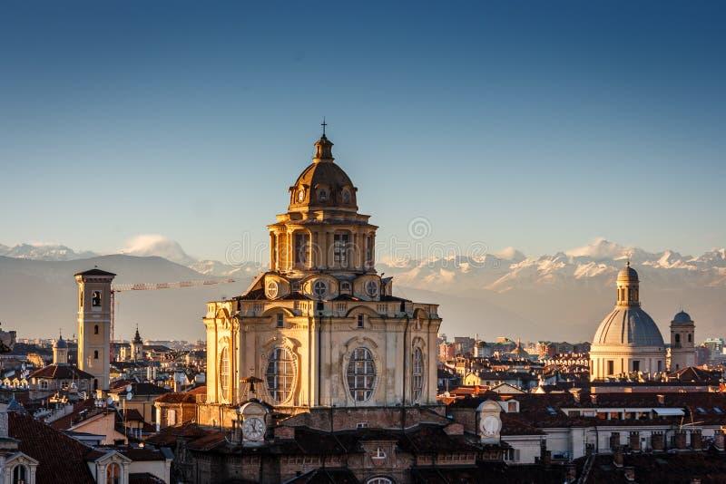 Церковь San Lorenzo, Турина, Италии стоковые изображения rf