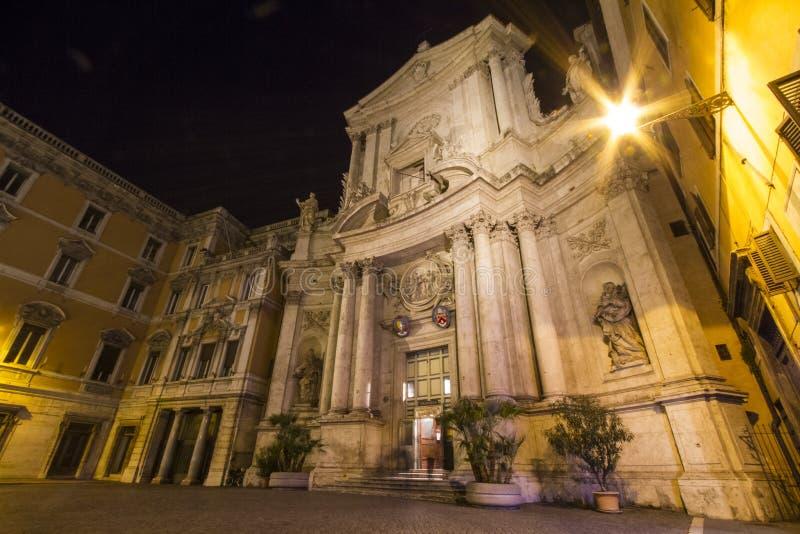 Церковь San Marcello Рим стоковая фотография rf