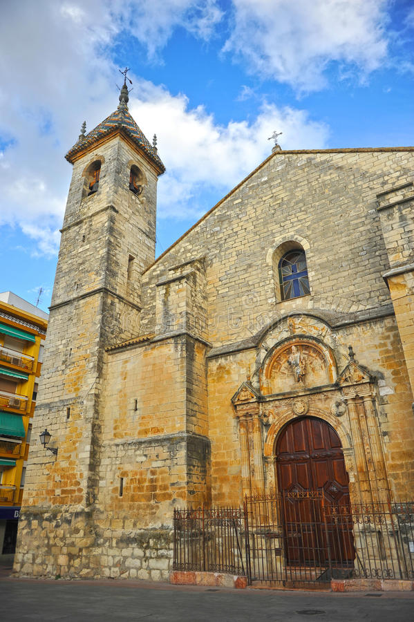 Церковь San Mateo в провинция Lucena, Cordoba, Андалусия, Испания стоковое фото