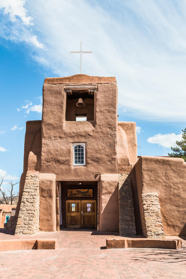 Церковь San Miguel, Санта-Фе, Неш-Мексико стоковое фото rf