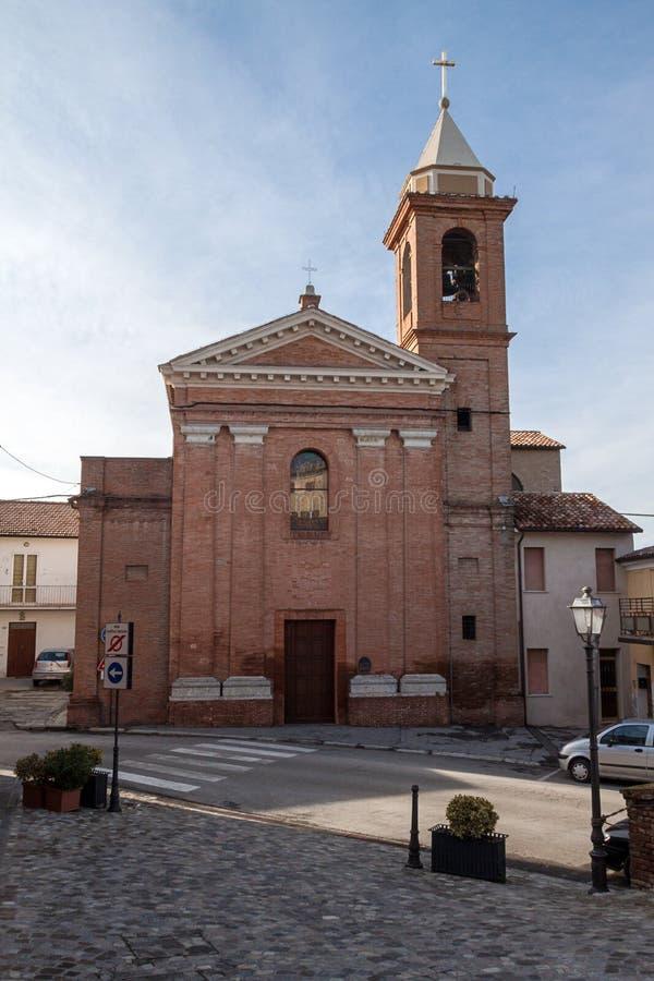 Церковь sant'agata в montiano стоковые изображения rf