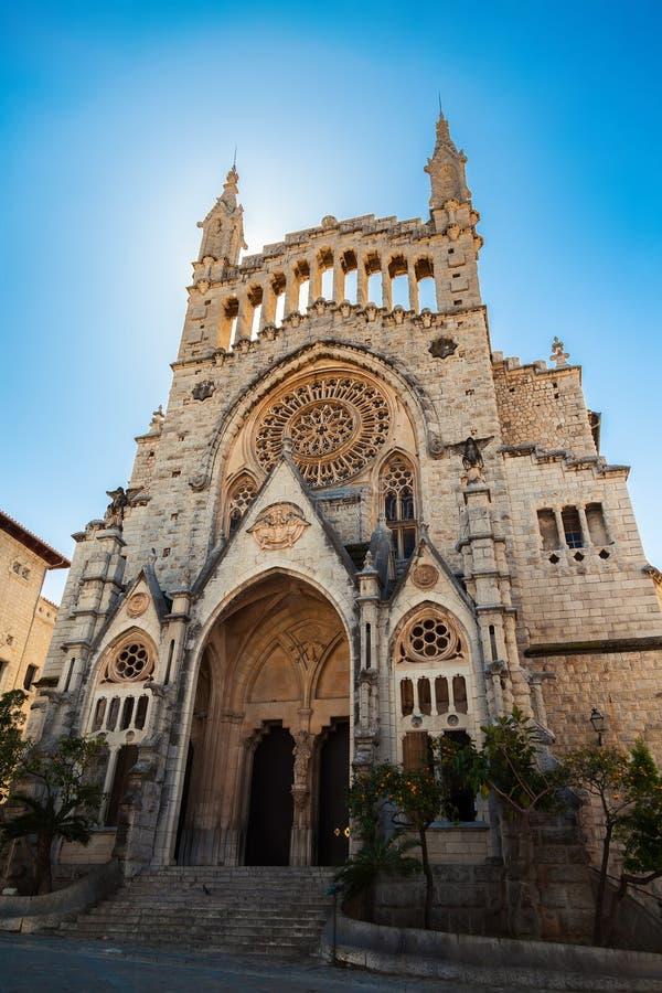 Церковь Sant Bartomeu в Soller стоковое фото rf