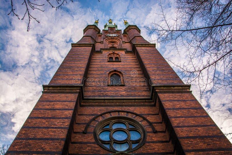 Церковь Santa Clara в Стокгольме стоковые фото