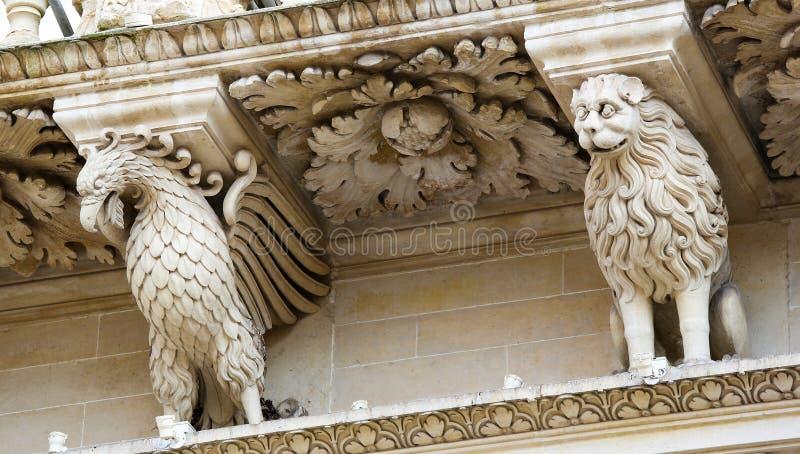 Церковь Santa Croce барочная в Lecce стоковые фото