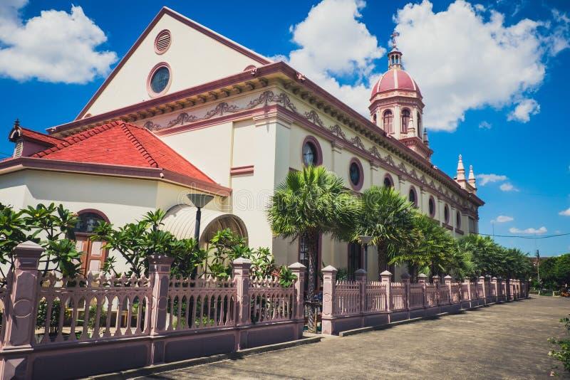 Церковь Santa Cruz в португальском квартале в Бангкоке стоковые фотографии rf