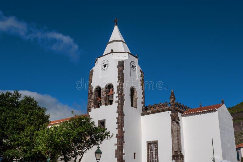Церковь Santa Cruz, Португалия, Мадейра стоковые фотографии rf
