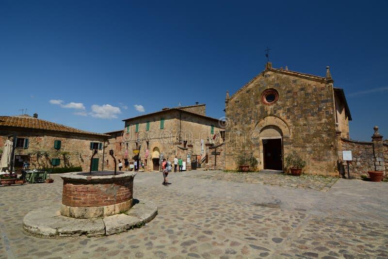 Церковь Santa Maria Аркада Roma Monteriggioni Toscana r стоковая фотография rf