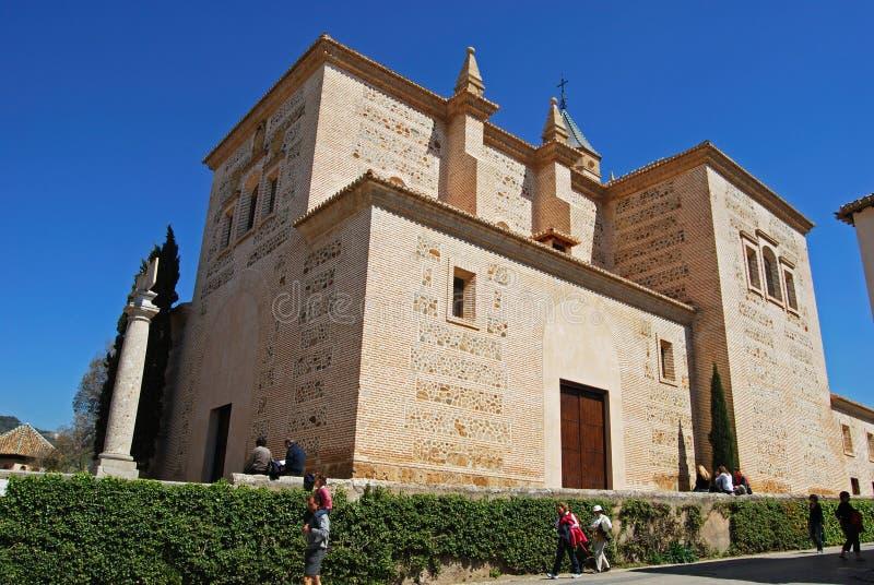 Церковь Santa Maria, дворец Альгамбра стоковые изображения