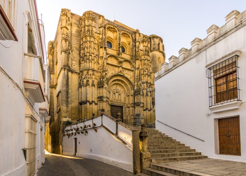 Церковь Santa Maria в Ла Frontera Arcos de, Испании стоковая фотография