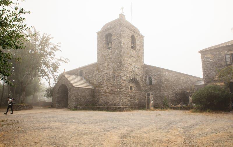 Церковь Santa Maria, Cebreiro стоковое изображение rf