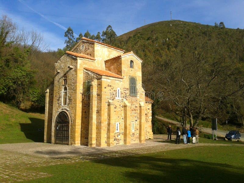 Церковь Santa Maria del Naranco, Овьедо стоковые фотографии rf
