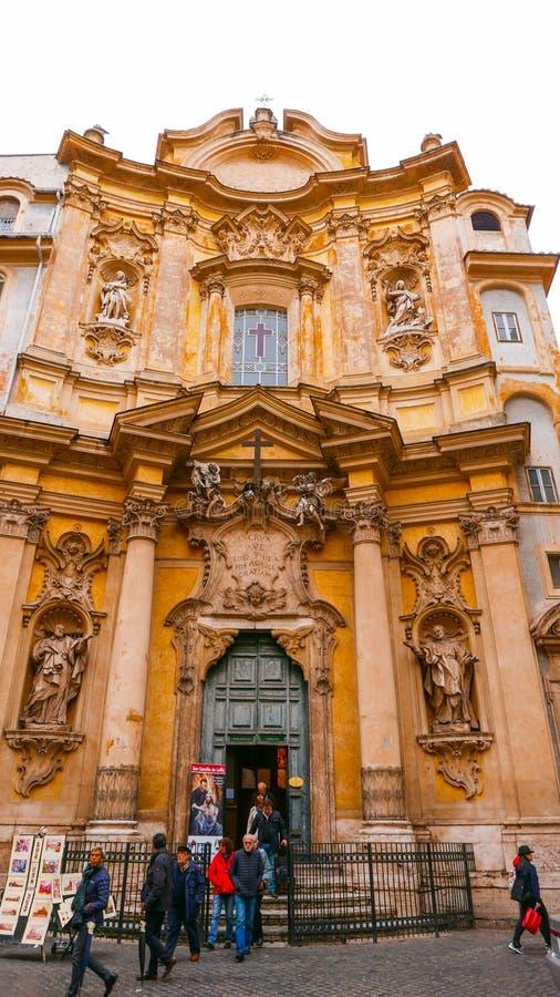 Download Церковь Santa Maria Maddalena в городе Рима Редакционное Стоковое Изображение - изображение насчитывающей ведущего, туризм: 81809259