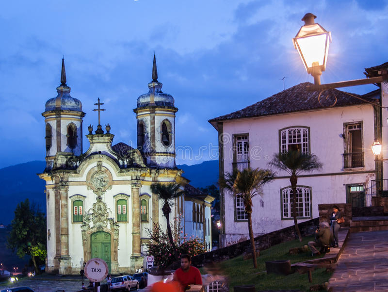 Церковь Sao Francisco de Assis Ouro Preto стоковые фотографии rf
