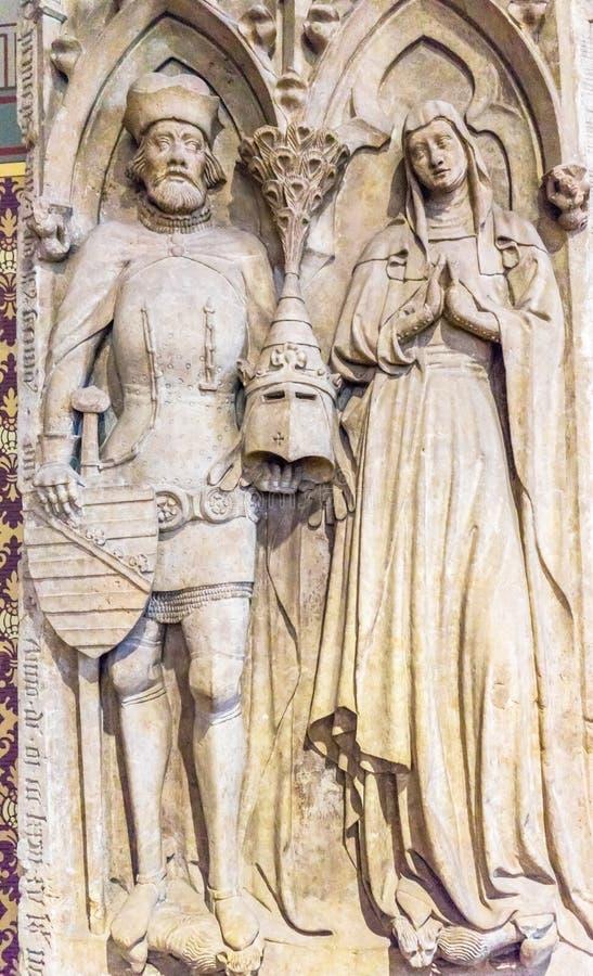 Церковь Schlosskirche Wittenb замка короля Ферзя Статуи Вс Святого стоковое фото rf