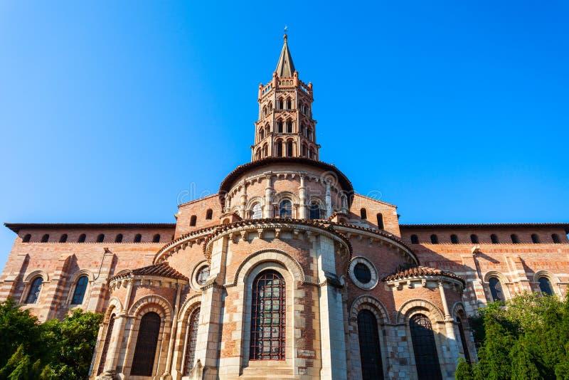Церковь Sernin Святого базилики, Тулуза стоковая фотография rf