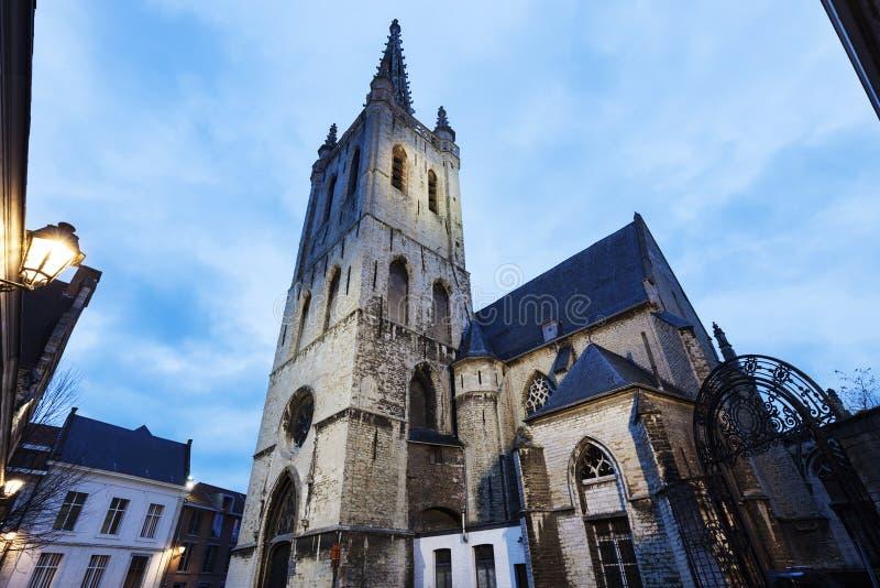 Церковь Sint Geertrui в лёвене стоковая фотография
