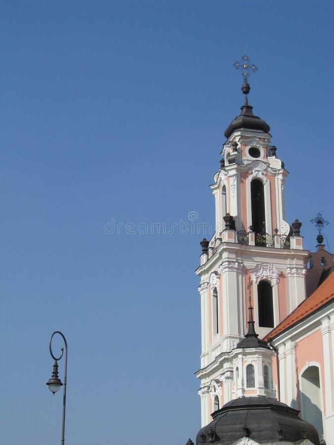 Церковь St. Катрина в Вильнюс стоковые изображения